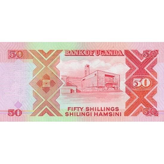 1989 - Uganda PIC 30b   50 Shillins banknote
