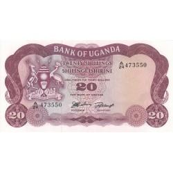 1966 - Uganda PIC 3   20 Shillins banknote