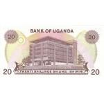 1973 - Uganda PIC 7c   20 Shillins banknote   F1