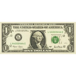 2001 - United States P509 G 1 Dollar banknote