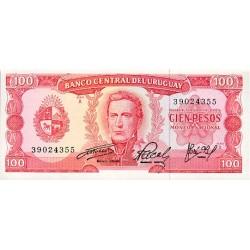 1967 - Uruguay P47 100 Pesos banknote