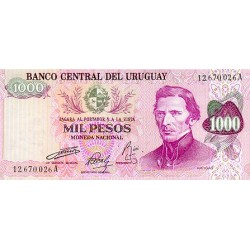 1974 - Uruguay P52a 1,000 Pesos banknote