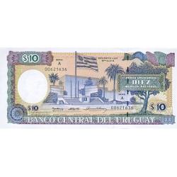 1995 - Uruguay P73Ba 10 Pesos Uruguayos banknote