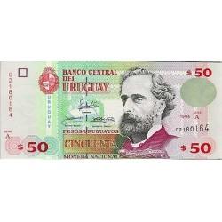 2000 - Uruguay P75a 50 Pesos Uruguayos banknote