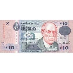 1998 - Uruguay P81 10 Pesos Uruguayos banknote