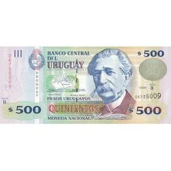 1999 - Uruguay P82 500 Pesos Uruguayos banknote