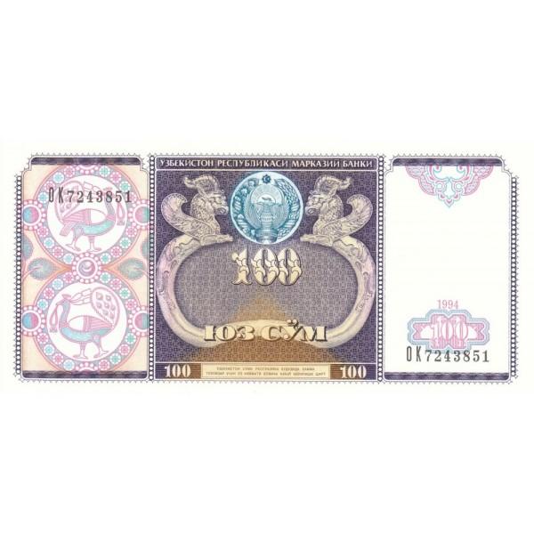 1994 - Uzbekistan pic 79  billete de 100 Sum