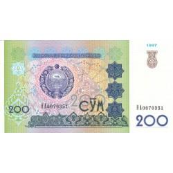 1997 - Uzbekistan PIC 80    200 Sum  banknote