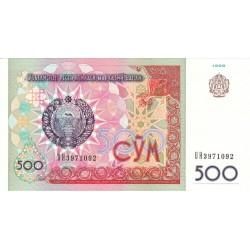 1999 - Uzbekistan PIC 81    500 Sum  banknote