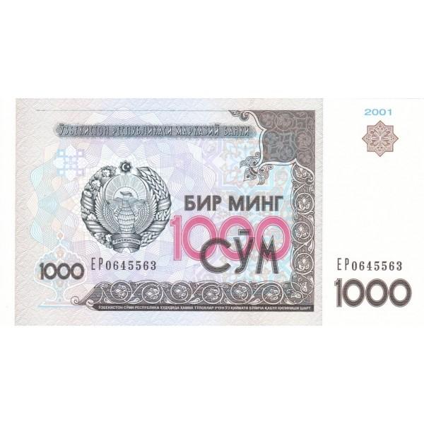 2001 - Uzbekistan pic 82 billete de 1000 Sum