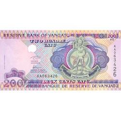 1995 - Vanuatu P8a 200 Vatu banknote
