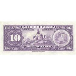 1979 - Venezuela P51g 10 Bolivares Banknote