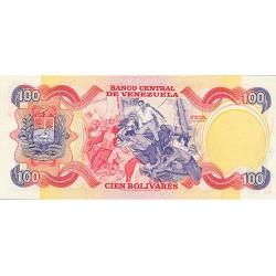 1980 - Venezuela P59a 100 Boivares banknote