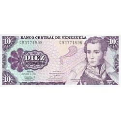 1981 - Venezuela P60a 10 Bolivares banknote