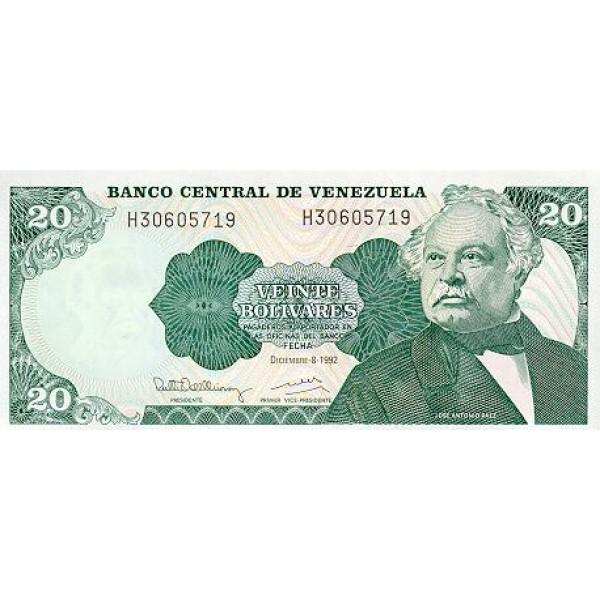 1989 - Venezuela P63b 20 Bolivares banknote
