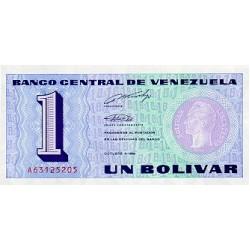 1989 - Venezuela P68 1 Bolivar banknote
