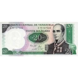 1987 - Venezuela P71 20 Bolivares banknote