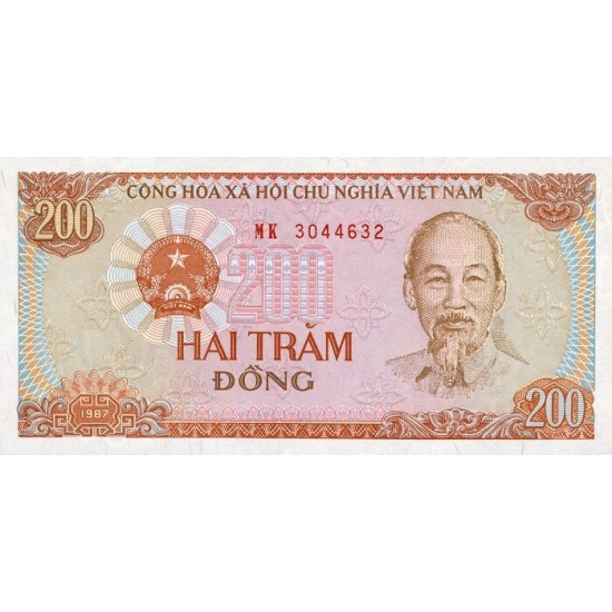 1987 -   Viet Nam   Pic 100a   200 Dong banknote