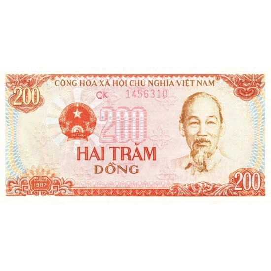1987 -   Viet Nam   Pic 100b  200 Dong banknote