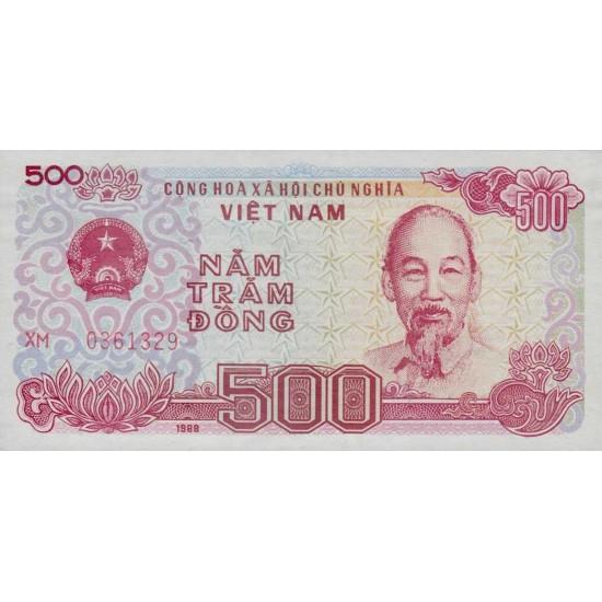 1988 -   Viet Nam   Pic 101b  500 Dong banknote