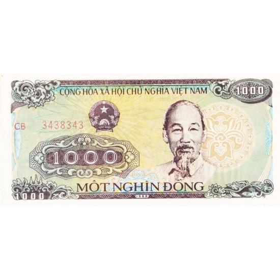 1988 -   Viet Nam   Pic 106b  1000 Dong banknote