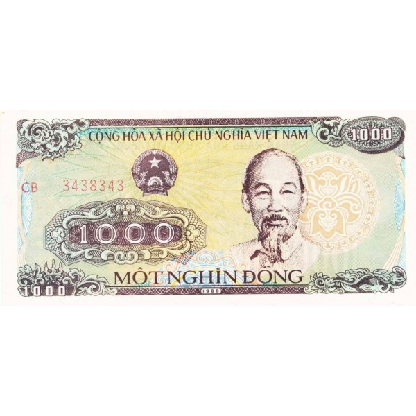 1988 -   Viet Nam   Pic 106b  1000 Dong banknote
