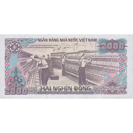 1988 -   Viet Nam   Pic 107a  2000 Dong banknote