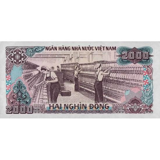 1988 -   Viet Nam   Pic 107b  2000 Dong banknote