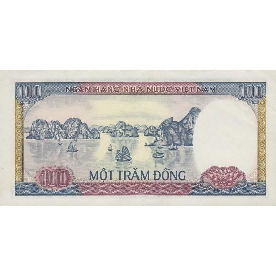 1980 -   Viet Nam   Pic 88b     100 Dong banknote