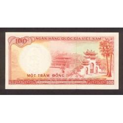 1966 -   Viet Nam South  Pic  19b      100 Dong banknote