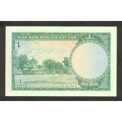 1956 -   Viet Nam South  Pic  1a      1 Dong banknote