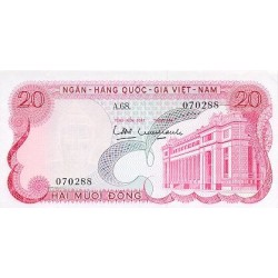 1969 -   Viet Nam South  Pic  24      20 Dong banknote