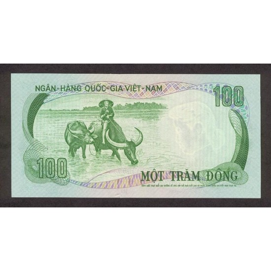 1972 -   Viet Nam South  Pic  31     100 Dong banknote