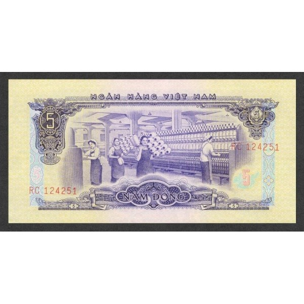 1966/75 -   Viet Nam South  Pic  42      5 Dong banknote