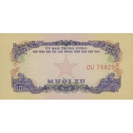 1968 -   Viet Nam South  Pic  R1      10 Dong banknote