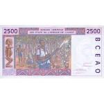 1993 - W. Afri.State (Ivory Coast) Pic 112Ab 2.500 Frs. banknote
