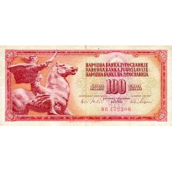 1965 - Yugoslavia Pic 80a         100 Dinara banknote