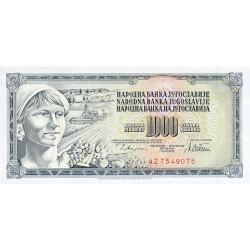 1978 - Yugoslavia Pic 92c        1.000 Dinara banknote