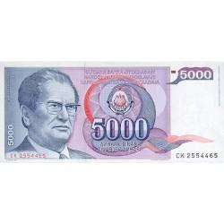 1985 - Yugoslavia Pic 93a        5.000 Dinara banknote