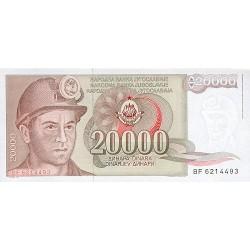 1987 - Yugoslavia Pic 95       20.000 Dinara banknote