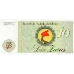 1985 Zaire pic 27A billete de 10-Zaires