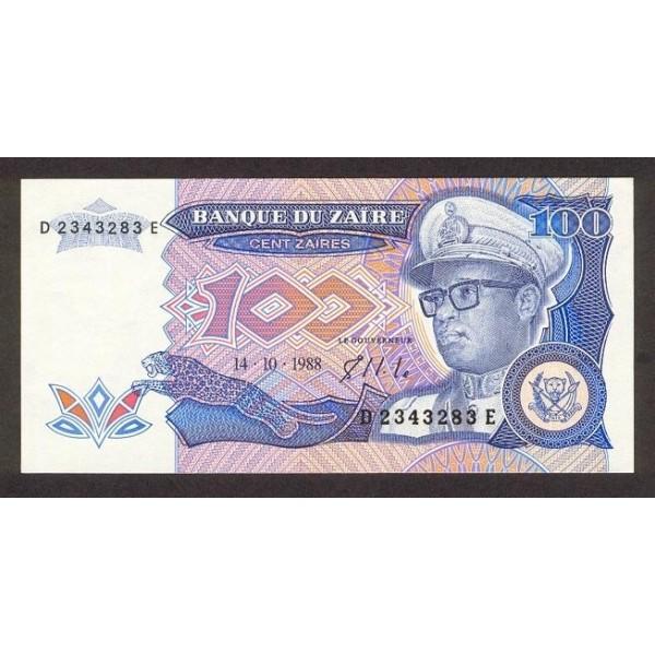 1988 Zaire pic 33 billete de 100 Zaires