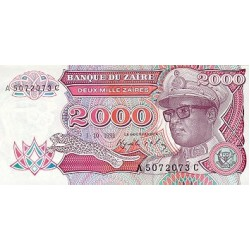 1991 - Zaire  Pic  36        2000 Zaires  banknote