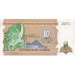 1993 - Zaire  Pic  49   10 nuevo makuta  banknote