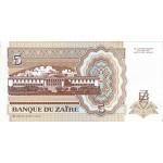 1993 - Zaire  Pic  53a   5 nuevo zaire banknote