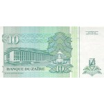 1993 - Zaire  Pic  54   10 new zaire banknote