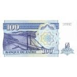 1993 - Zaire  Pic  58  100 new zaire banknote