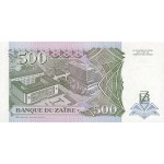 1994 Zaire  Pic  64  500 new zaire banknote