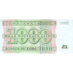 1995 Zaire  Pic  66  1000 new zaire banknote