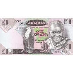 1980 - Zambia   Pic  23a          1 Kwacha S.5  banknote
